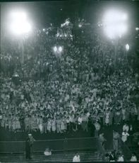 People gathered together during an event.