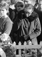 Mourners on the day of John F. Kennedy funeral, 1963