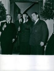 Pierre Mendes France together with his colleagues.