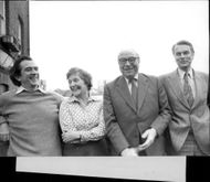 The English politicians Roy Jenkins, Shirley Williams, Dr. David Owen and William Rodgers.