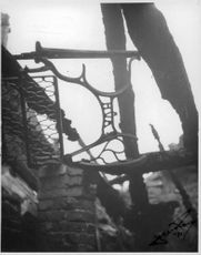 A ruined building during Finnish War, 1941.