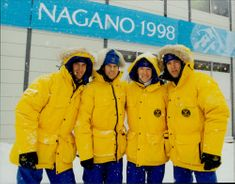The Swedish skid team in the OS in Nagano 1998.