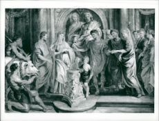 Sir Peter Paul Rubens: the marriage of constantine and fausta.