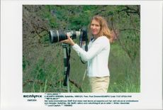 German tennis player Steffi Graf takes a lead on safari in South Africa