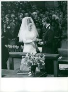 Princess Margriet of the Netherlands and Pieter van Vollenhoven getting married.