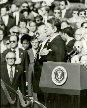 Ronald Reagan in the speaker chair.