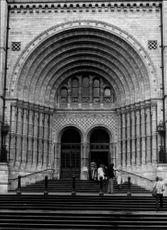 Entrance to the Victoria and Albert museum in London.