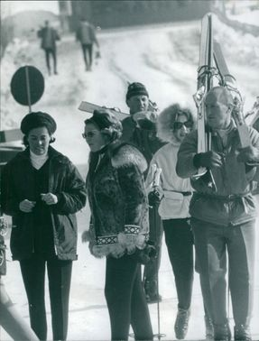 Princess Christine with few people going for skiing.