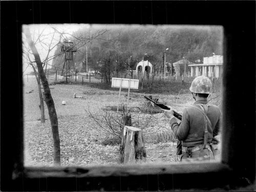 Tailored photograph from the Transitional Transition between Turkey and the Soviet Union in Sarp on the Black Sea.