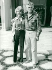 Kirk Douglas together with his wife Anne Buydens