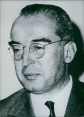Portrait of Italian politician Luigi Gui, 1962.