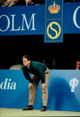The line judge checks everything everything is right and right under the Stockholm Open.