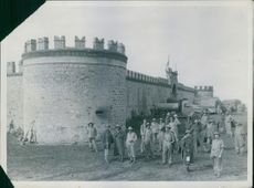 Fort Mega on the Abyssinian frontier captured by South African troops.  - 1941