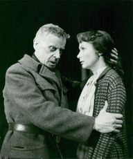 """Anders Henrikson and Doris Svedlund in """"The Big Role"""" at Dramaten"""