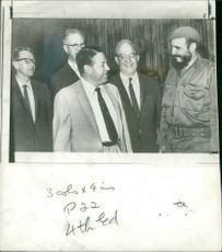 Fidel Castro with american deligation member.