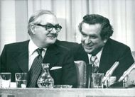 Prime Minister James Callaghan and Denis Healey