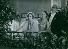 A scene from the film Honeymoon casting by Anne-Marie Brunius, Karin Albihn and Harry Roeck-Hansen, 1936.