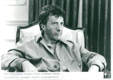 "Portrait image of Dustin Hoffman as Bernard ""Bernie"" Laplante in Stephen Frear's movie ""The Hero of Randomness""."