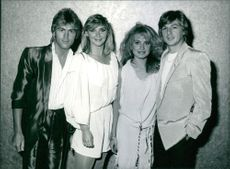 Members of the Bucks Fizz group standing together.