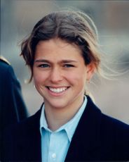 Portrait of the Princess Madeleine at the celebration of King Carl Gustaf's 49th birthday at the Palace.