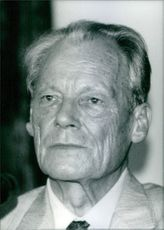 Portrait of Willy Brandt. 1986.
