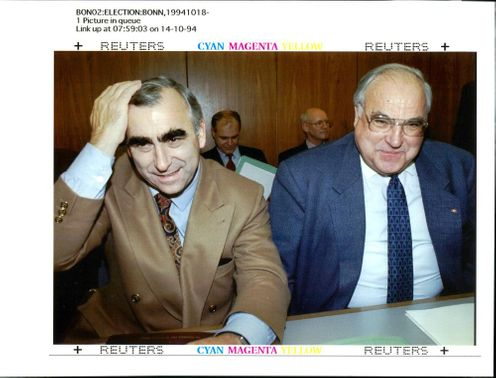 Theo Waigel with Helmut Kohl.