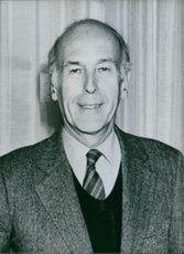 Valery Giscard D'Estaing smiling at the camera. 1982.