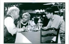 Walter Matthau, Meg Ryan and Tim Robbins in the film of I.Q. 1995