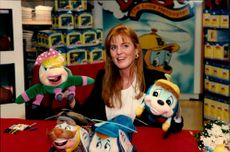 """Sarah Ferguson participated in the promotion of the book """"Budgie"""" at Bloomingdale's."""