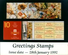 The First Class Greetings Stamps.