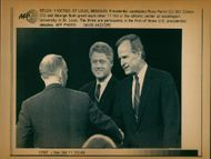 George Walker Bush with Ross Perot and Bill Clinton.