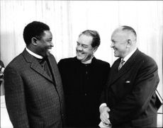 Jean Yinda, Gösta Nicklasson and Jaromi Ondracek at the inauguration of the new chapel at Mission Alliance Theological Seminary.
