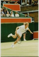 Stefan Edberg plays in WImbledon