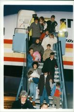 Yugoslavia Refugees rescued from serbian internment.