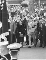Pres.Diosdado Macapagal (extreme right) Pres.Lübke of West Germany, Pres.de Gaulle of France (extreme left) Queen Frederica of Greece, King Baudouin of Belgium, 1963