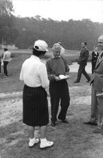 The Duke of Windsor having a conversation while on the golf course