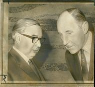 Lord George Brown talking with Dutch diplomat Joseph Luns