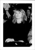 Portrait image of Mireille Darc taken in an unknown context.
