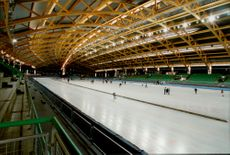 Hamars Olympidahall where the skating competition will be held during the Winter Olympics.