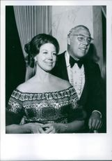Revel and George Kennedy attend the 16th Annual TV Academy Ball at the Beverly Wilshire Hotel, 1971.