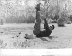 Jean-Claude Pascal stretching.