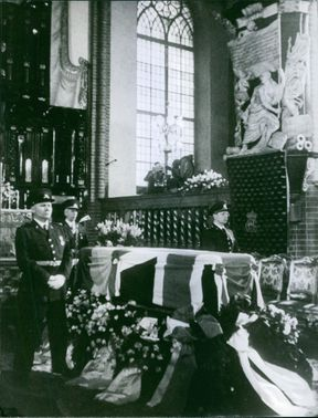 A Funeral Ceremony of Louise Mountbatten, 1965.