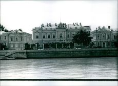 The British Embassy in  Moscow. In the foreground is the River Moskva.