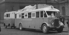 Red Cross bus on the way to Holland