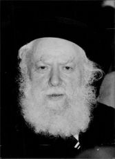 Portrait of Rabbi Avraham Shapiro.