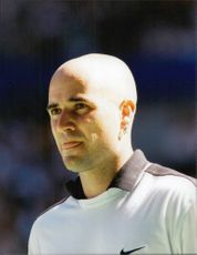 American tennis player Andre Agassi during the Australian Open 1996