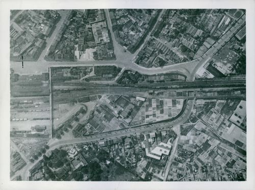The Marshalling Yard at Hazebrouck in Northern France before the bombing.