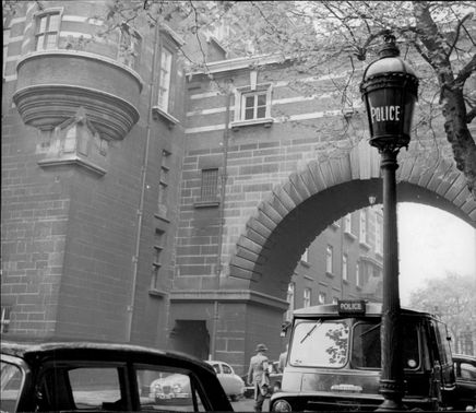 The classic entrance to Scotland Yard.