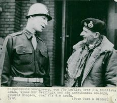 Field Marshal Montgomery in conjunction with his colleague General Simpson