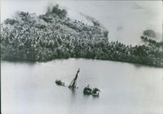 The Japanese ship was blasted by Allied bombers in Finschhafen harbor, New Guinea.